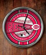 Cincinnati Reds Chrome Wall Clock
