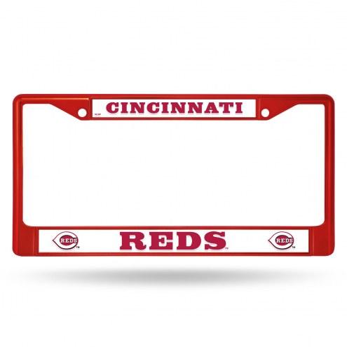 Cincinnati Reds Color Metal License Plate Frame