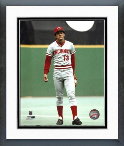 Cincinnati Reds Dave Concepcion Action Framed Photo
