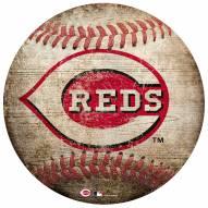 Cincinnati Reds Baseball Shaped Sign