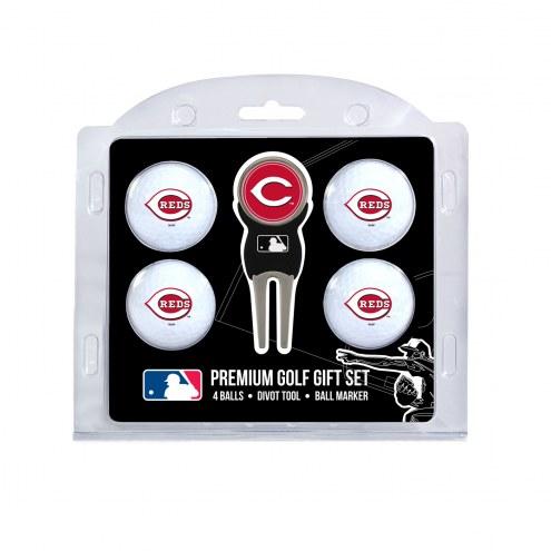 Cincinnati Reds Golf Ball Gift Set