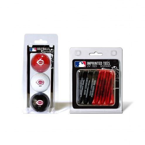 Cincinnati Reds Golf Ball & Tee Pack