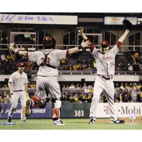 "Cincinnati Reds Homer Bailey Celebrating No-Hitter Signed 16"" x 20"" Photo"