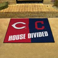 Cincinnati Reds/Cleveland Indians House Divided Mat
