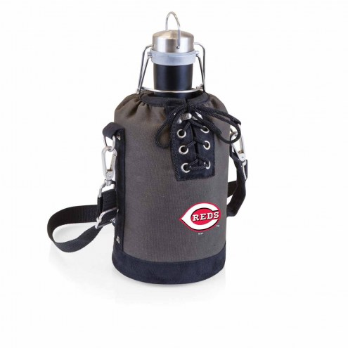 Cincinnati Reds Insulated Growler Tote with 64 oz. Stainless Steel Growler
