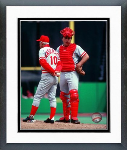 Cincinnati Reds Johhny Bench & Sparky Anderson 1978 Framed Photo