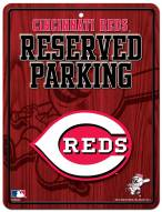 Cincinnati Reds Metal Parking Sign
