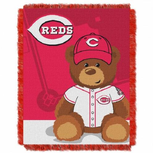 Cincinnati Reds MLB Baby Blanket