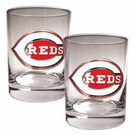 Cincinnati Reds MLB 2-Piece 14 Oz. Rocks Glass Set