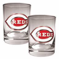 Cincinnati Reds MLB 2-Piece 14 Oz. Rocks Glass Set
