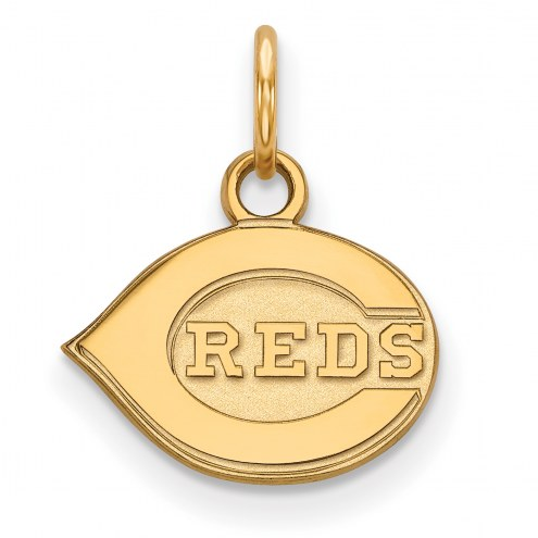 Cincinnati Reds MLB Sterling Silver Gold Plated Extra Small Pendant