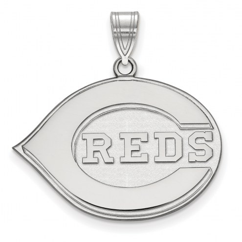 Cincinnati Reds Sterling Silver Large Pendant