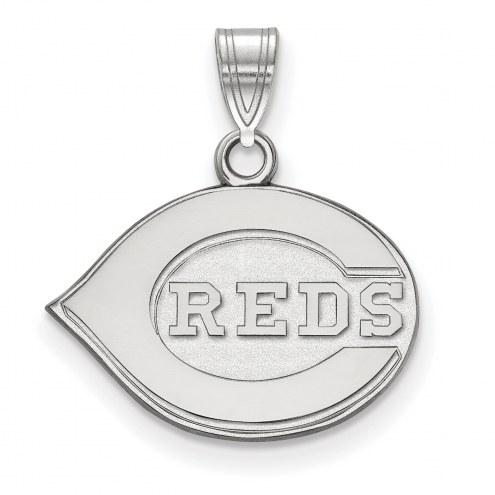 Cincinnati Reds Sterling Silver Small Pendant