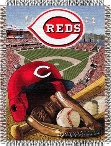 Cincinnati Reds MLB Woven Tapestry Throw Blanket
