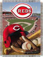 Cincinnati Reds MLB Woven Tapestry Throw Blanket