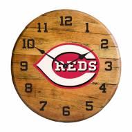 Cincinnati Reds Oak Barrel Clock