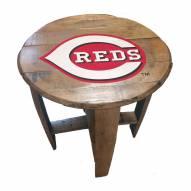 Cincinnati Reds Oak Barrel Table