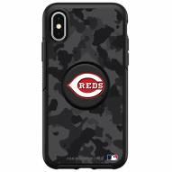 Cincinnati Reds OtterBox Urban Camo Symmetry PopSocket iPhone Case