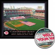 Cincinnati Reds 11 x 14 Personalized Framed Stadium Print