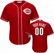 Cincinnati Reds Personalized Replica Scarlet Alternate Baseball Jersey
