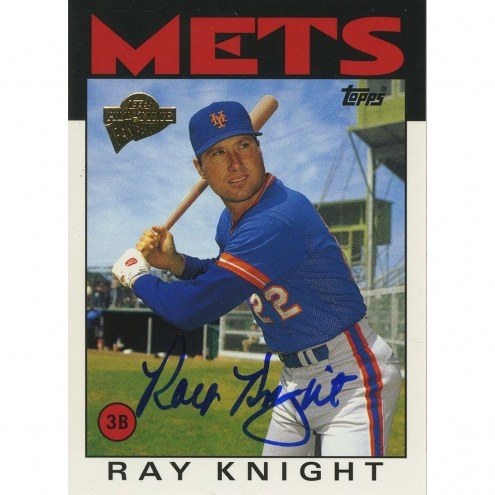 Cincinnati Reds Ray Knight Signed 2003 Topps Card