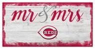 Cincinnati Reds Script Mr. & Mrs. Sign