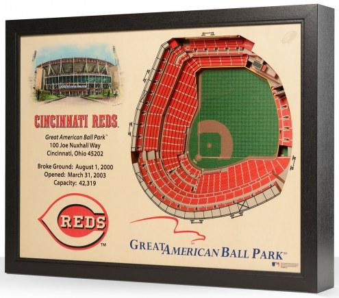 Cincinnati Reds 25-Layer StadiumViews 3D Wall Art