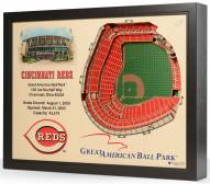 Cincinnati Reds 25-Layer StadiumViews 3D Wall Art