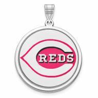 Cincinnati Reds Sterling Silver Disc Pendant