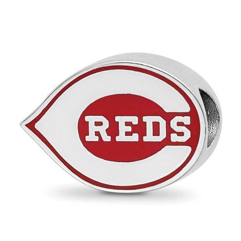 Cincinnati Reds Sterling Silver Enameled Bead