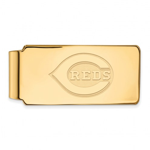 Cincinnati Reds Sterling Silver Gold Plated Money Clip