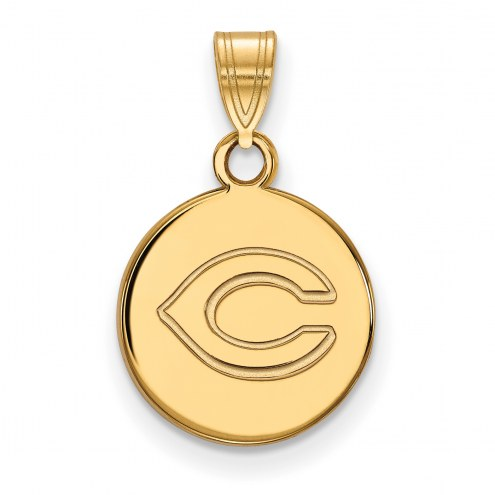 Cincinnati Reds Sterling Silver Gold Plated Small Disc Pendant