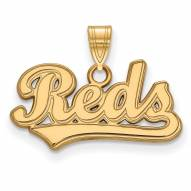 Cincinnati Reds Sterling Silver Gold Plated Small Pendant