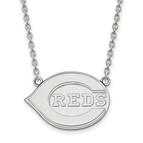 Cincinnati Reds Sterling Silver Large Pendant Necklace