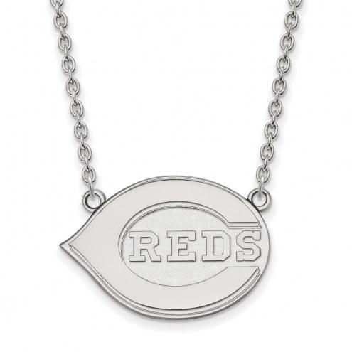 Cincinnati Reds Sterling Silver Large Pendant Necklace