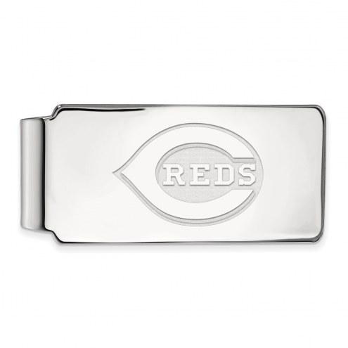 Cincinnati Reds Sterling Silver Money Clip