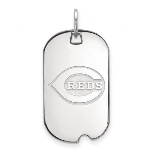 Cincinnati Reds Sterling Silver Small Dog Tag