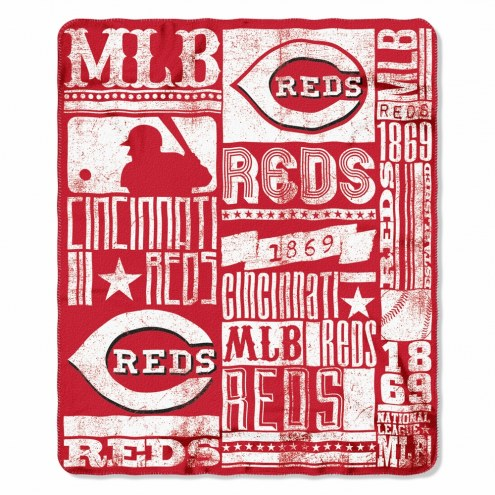 Cincinnati Reds Strength Fleece Blanket