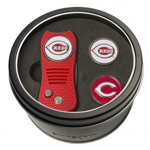 Cincinnati Reds Switchfix Golf Divot Tool & Ball Markers
