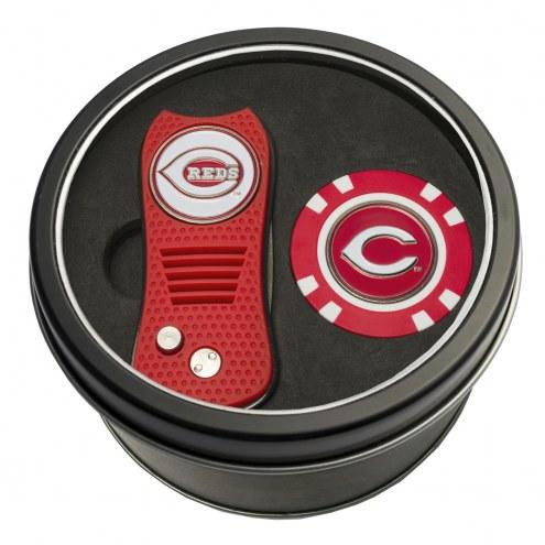Cincinnati Reds Switchfix Golf Divot Tool & Chip