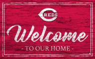Cincinnati Reds Team Color Welcome Sign