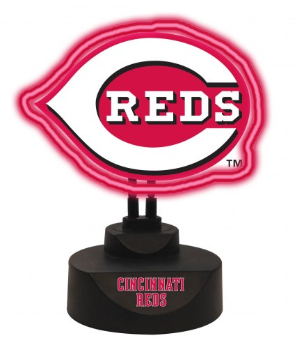 Cincinnati Reds Team Logo Neon Light