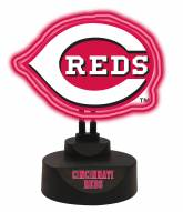 Cincinnati Reds Team Logo Neon Light