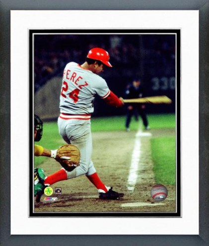 Cincinnati Reds Tony Perez Batting Framed Photo