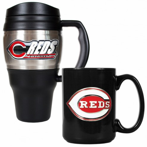 Cincinnati Reds Travel Mug & Coffee Mug Set