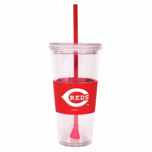 Cincinnati Reds Tumbler with Straw