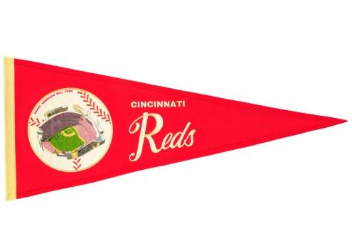 Cincinnati Reds Vintage Ballpark Traditions Pennant