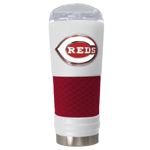 Cincinnati Reds White 24 oz. Powder Coated Draft Tumbler