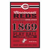 Cincinnati Reds Established Wood Sign