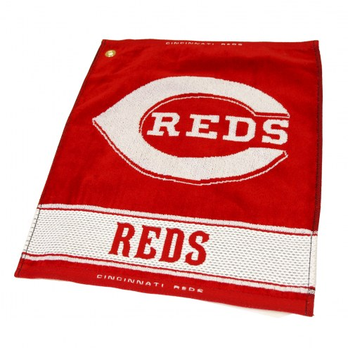 Cincinnati Reds Woven Golf Towel